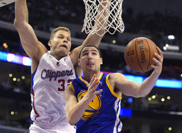 Klay Thompson got a vibe from new coach Steve Kerr that he won't be leaving the Bay Area this season. (AP)