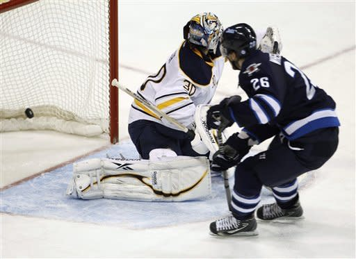 Wheeler, Little lift Jets over Sabres 3-1