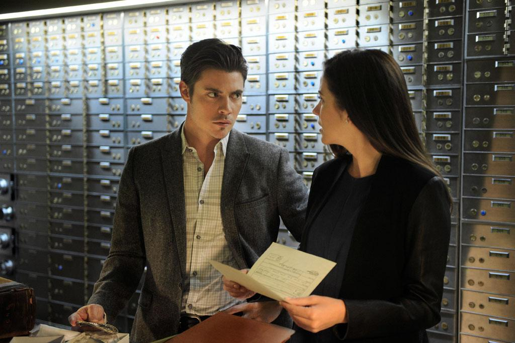 "Josh Henderson and Julie Gonzalo in the ""Dallas"" Season 2 episode, ""Guilt by Association."""