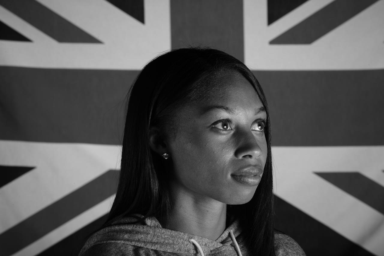 WEST HOLLYWOOD, CA - NOVEMBER 17:  Track and field athlete Allyson Felix poses for a portrait during the USOC Portrait Shoot at Smashbox West Hollywood on November 17, 2011 in West Hollywood, California.  (Photo by Harry How/Getty Images for USOC)