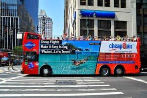 """CheapOair's """"Travel the World for Less"""" Campaign Tours the Big Apple"""