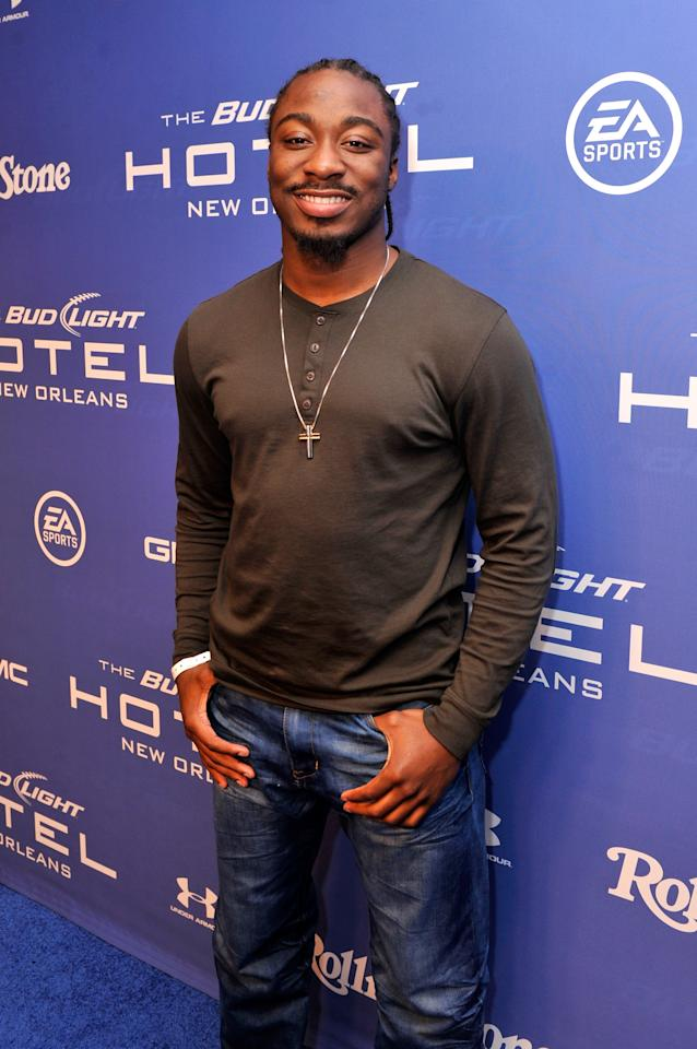 NEW ORLEANS, LA - FEBRUARY 02:  NFL Draft prospect Marcus Lattimore of the South Carolina Gamecocks attends Bud Light Presents Stevie Wonder and Gary Clark Jr. at the Bud Light Hotel on February 2, 2013 in New Orleans, Louisiana.  (Photo by Stephen Lovekin/Getty Images for Bud Light)