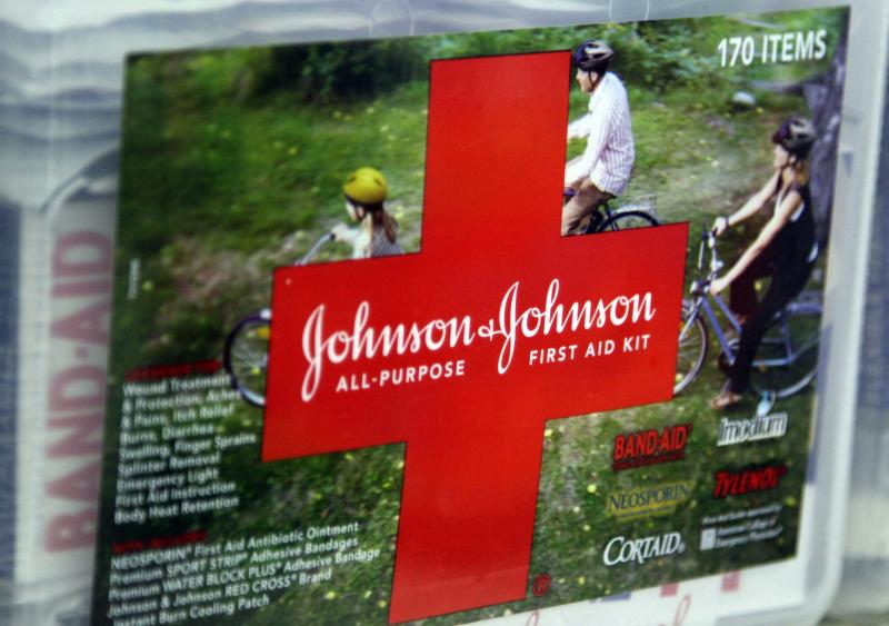A first aid kit made by Johnson & Johnson for sale on a store shelf in Westminster
