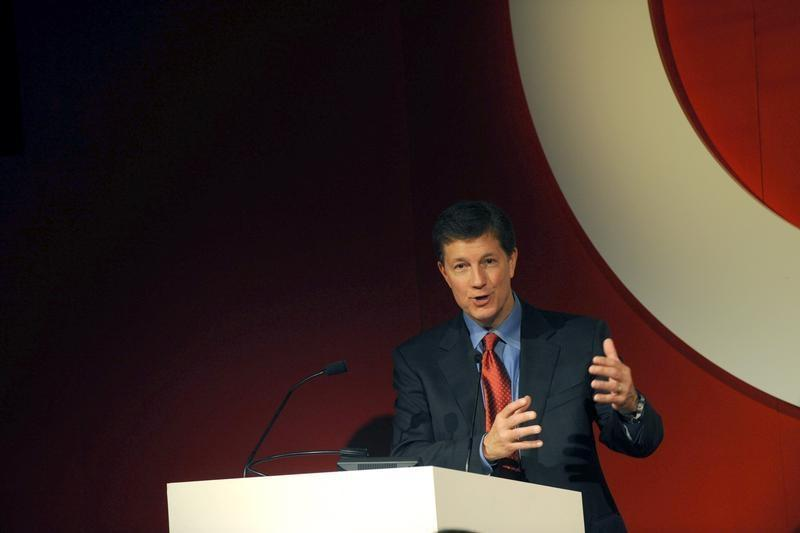 Target President and CEO Gregg Steinhafel speaks during an event announcing a holiday collection that partners Target and Neiman Marcus in New York