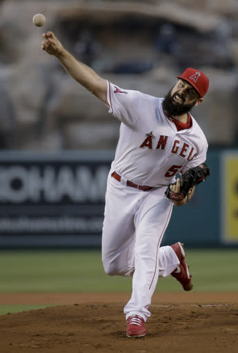 Trout, Shoemaker lead Angels' 8-2 rout of Marlins