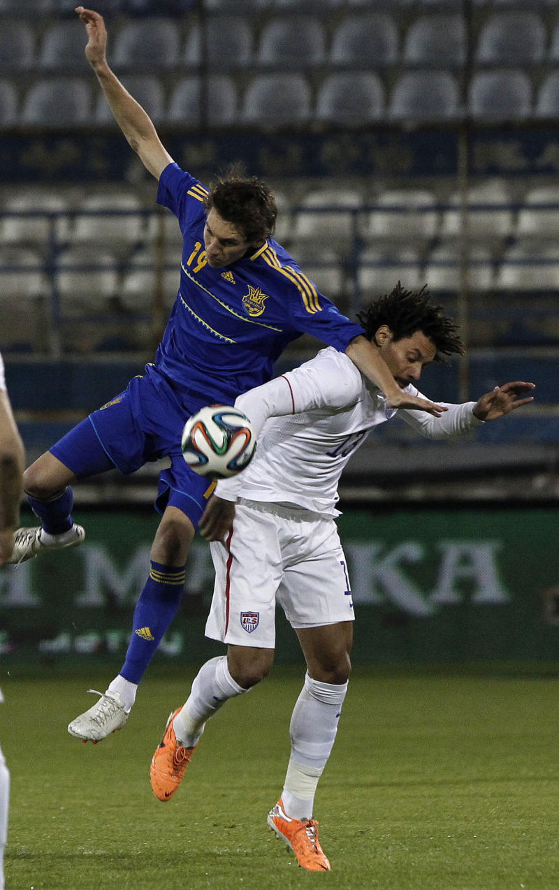Ukraine beats US 2-0 in soccer exhibition