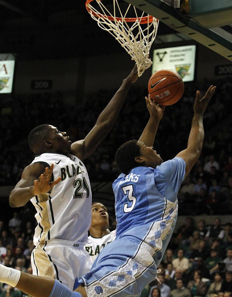 UAB upsets No. 16 North Carolina, 63-59