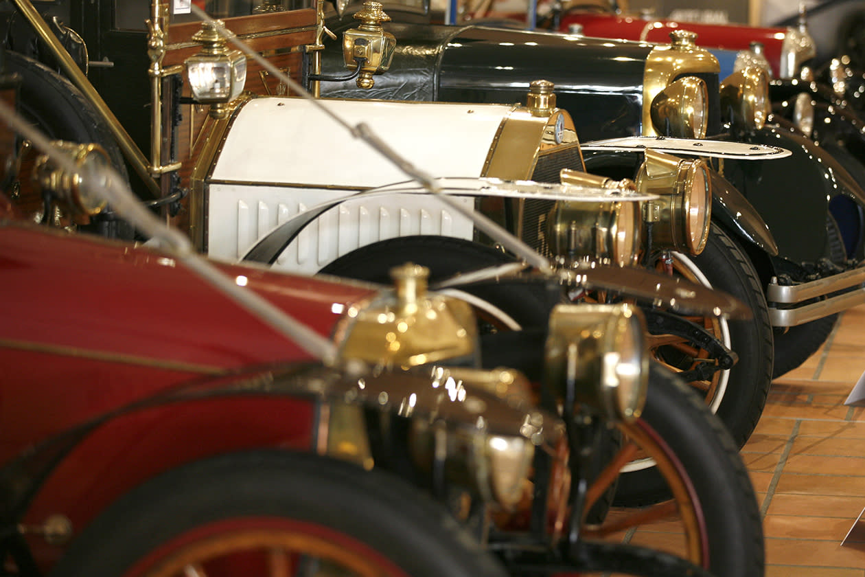 Cars of the collection of Prince Albert II of Monaco displays at the Automobile Museum in Monaco.