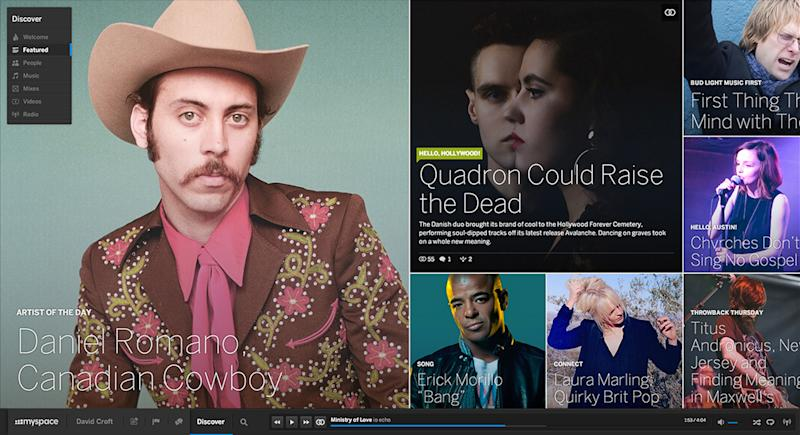New Myspace takes it back to the future