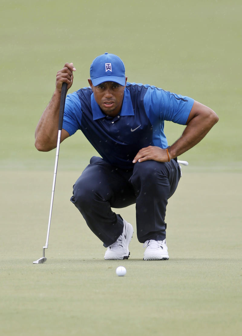 A slow start for Woods, and the tournament