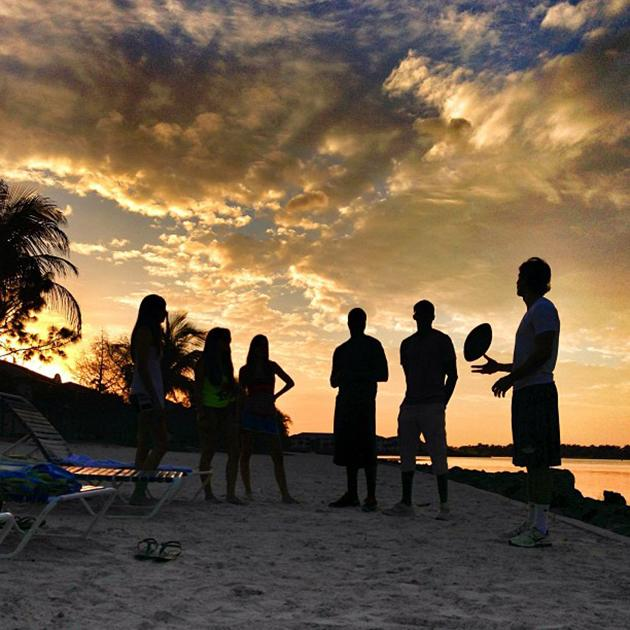 #FGCU students enjoying another #beautiful #sunset at #northlake after a productive day of classes!