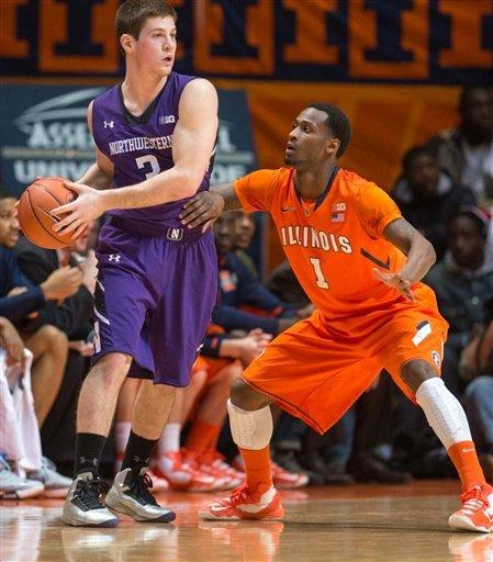 Northwestern extends Illinois' slump, 68-54