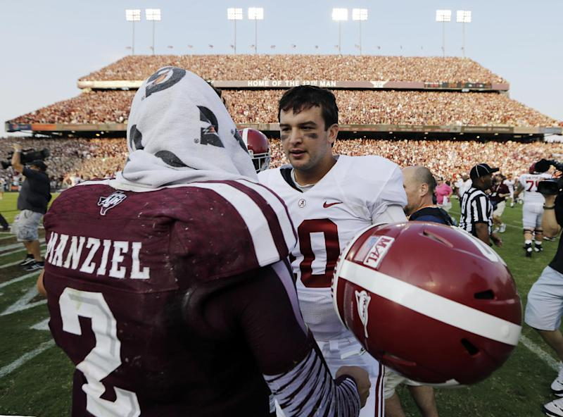 Manziel, McCarron headline crop of quality SEC QBs