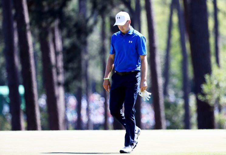Jordan Spieth didn't have a good time on the 12th hole on Sunday. More