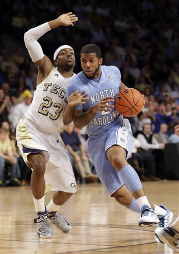McAdoo has 22, UNC beats Georgia Tech 70-58