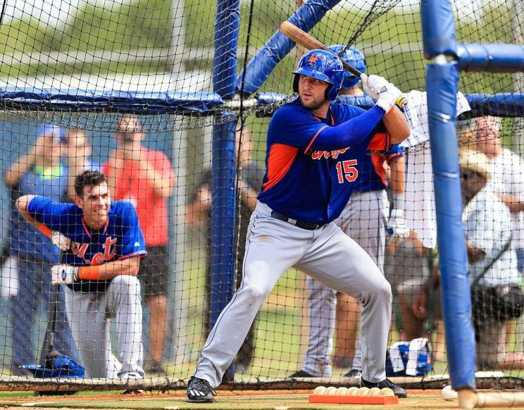 Tim Tebow Hits Home Run in First Pro at Bat