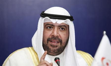 OCA President Sheikh Ahmad Al-Fahad Al-Sabah speaks during the opening of the 28th OCA General Assembly in Singapore