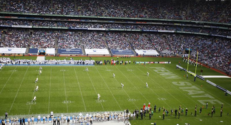 Penn State Nittany Lions and UCF Knights during the Croke Park Classic College Football match in Dublin, Ireland, Saturday, Aug. 30,2014. University of Central Florida hosted Penn State in their 2014 football Season Opener Saturday. This big season opener for UCF and Penn State is the first time that they have played outside the United States