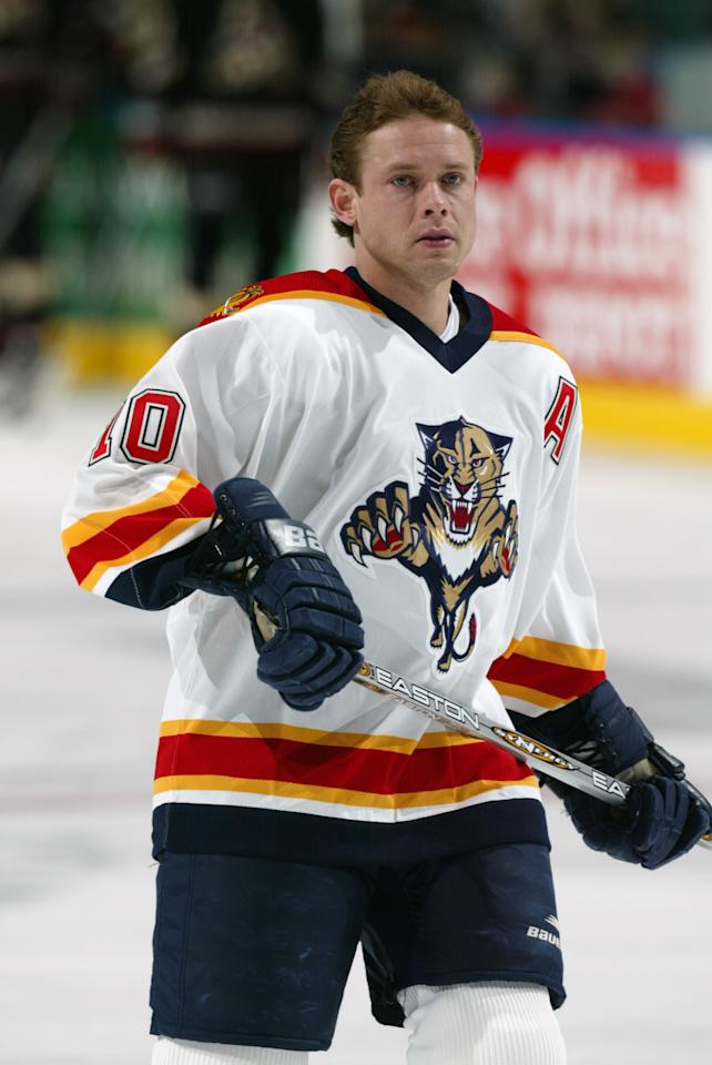 30 Jan 02 : Pavel Bure of the Florida Panthers during the game against the Phoenix Coyotes at National Car Rental Center in Sunrise, Florida. The Coyotes beat the Panthers 3-1. DIGITAL IMAGE. Mandatory Credit: Eliot Schechter/Getty Images/NHLI