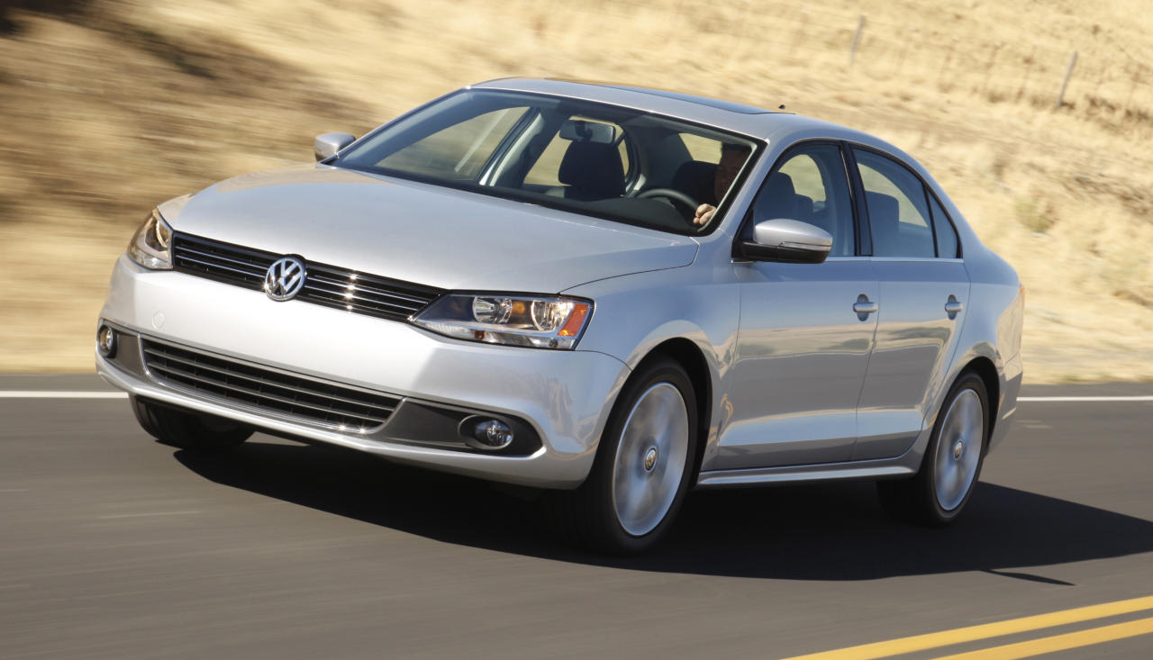 FILE - In this undated file photo provided by Volkswagen North America, the 2011 Volkswagen Jetta is shown. Volkswagen is recalling more than 30,000 Jetta sedans from the 2011 and 2012 model years because the tailpipes can stick out too far and burn people.(AP Photo/Volkswagen North America)