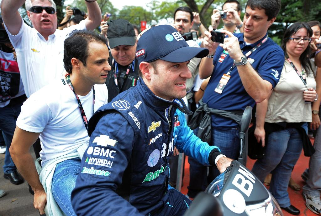 Brazil's Rubens Barrichello, pictured in 2012, will make his debut driving in the Le Mans 24 Hour endurance race (AFP Photo/NELSON ALMEIDA)