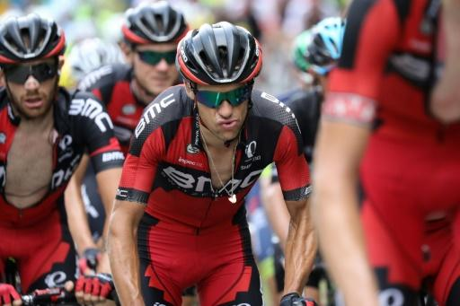 Australia's Richie Porte (C) rides with his teammates of the USA's BMC Racing team during the Tour de France, in July 2016