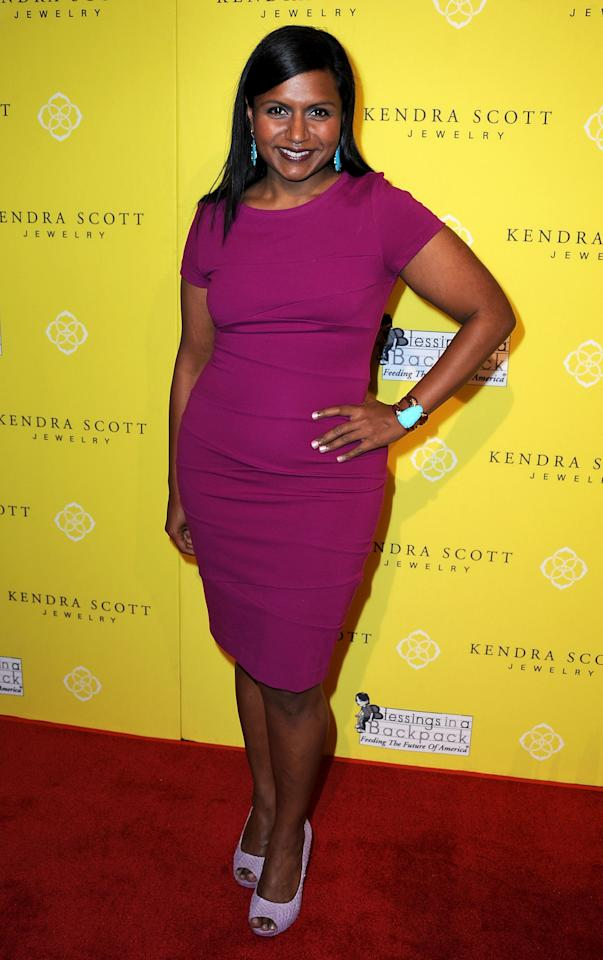"""WEST HOLLYWOOD, CA - AUGUST 10:  Actress Mindy Kaling attends the Kendra Scott Jewelry of Beverly Hills Grand Opening benefiting """"Blessings In A Backpack"""" on August 10, 2011 in West Hollywood, California.  (Photo by Valerie Macon/Getty Images)"""