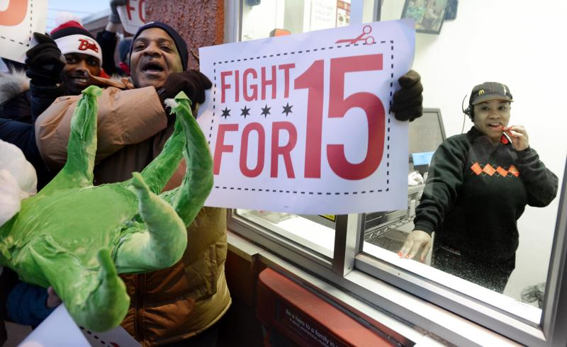 Fast-food protests return amid push for wage hikes