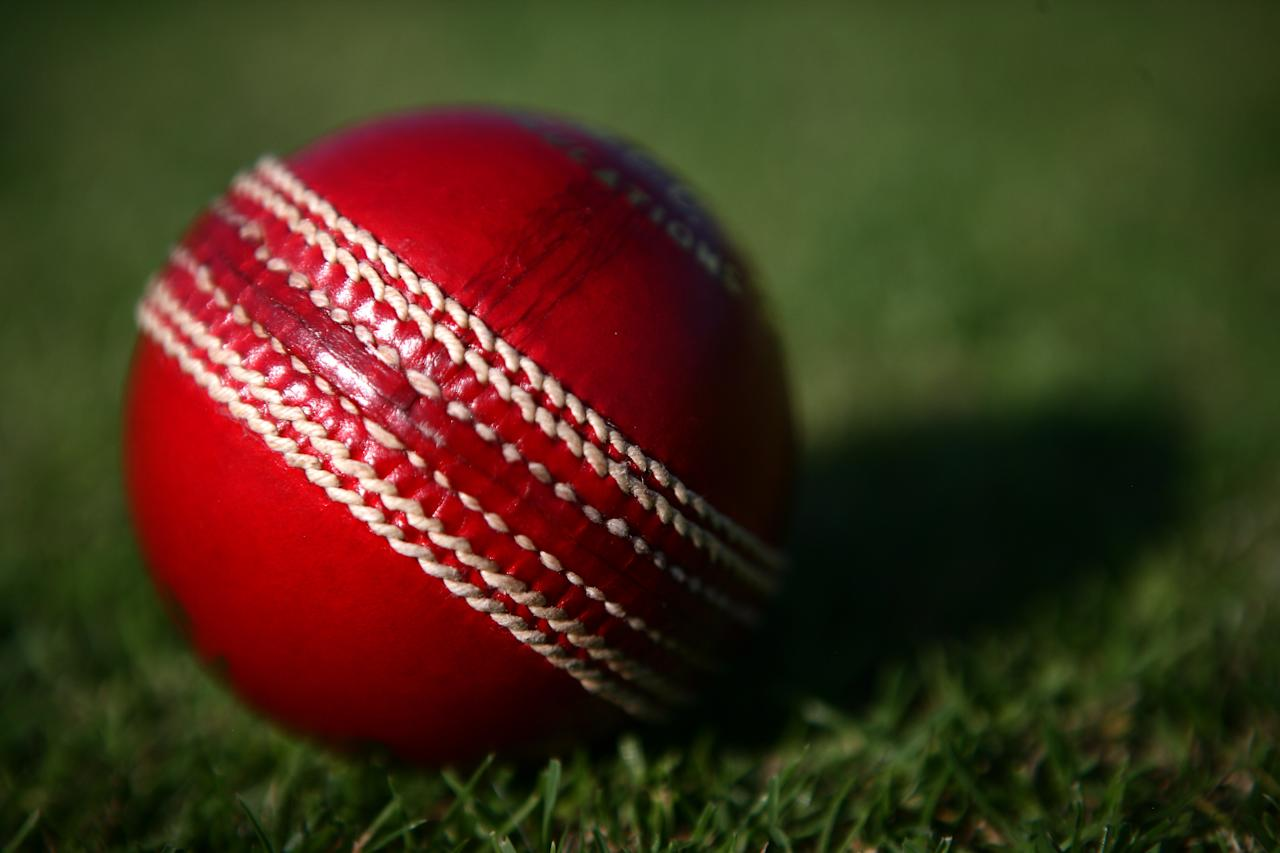 WORMSLEY, ENGLAND - JULY 30: A cricket ball comes to rest on the boundary's sedge at Wormsley Cricket Club set in the beautiful grounds of the Getty estate on July 30, 2008 in Wormsley, England.  (Photo by Laurence Griffiths/Getty Images)