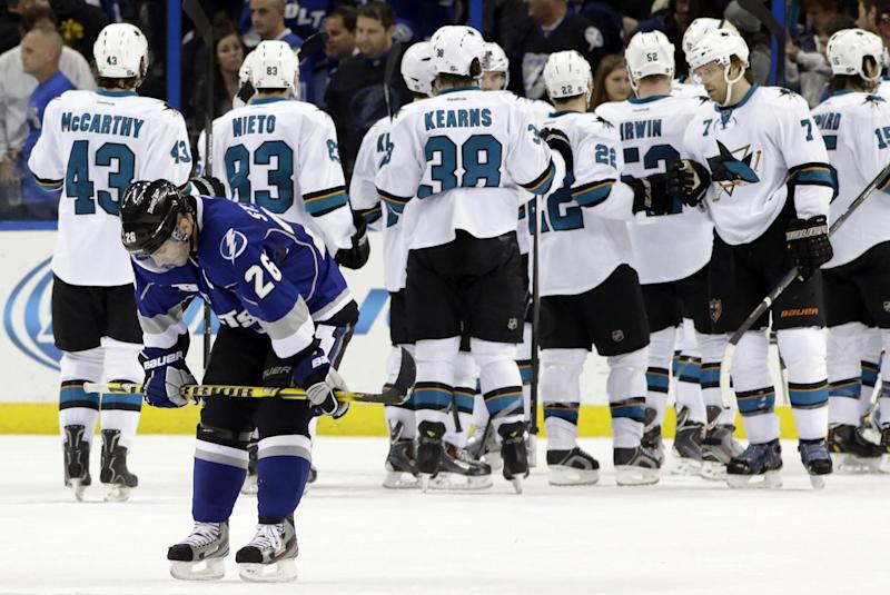 St. Louis scores 4, but Pavelski's 3 lift Sharks