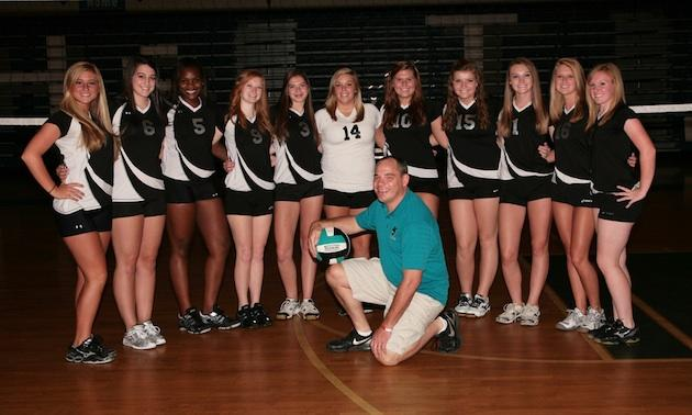 The West Johnston volleyball team, which played 7 games before the start of the school year — WJHSAthletics.com