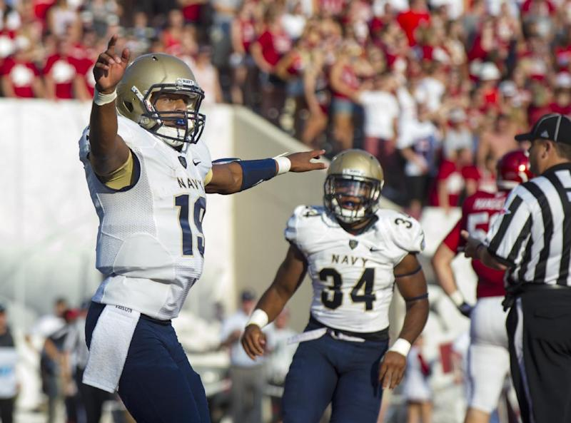 Navy grinds out 41-35 win at Indiana