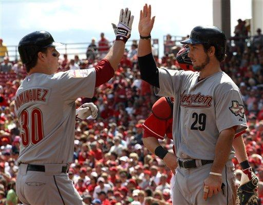 Astros beat Reds 5-1 to post rare road series win