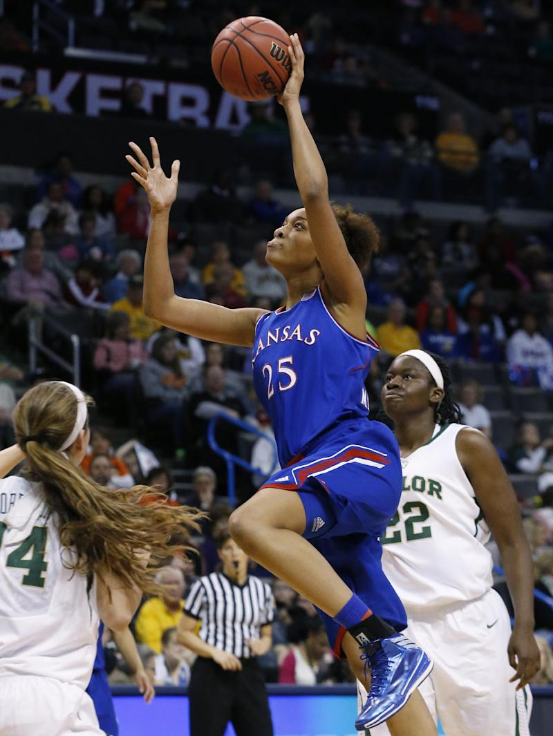 No. 9 Baylor women rout Kansas in Big 12 quarters