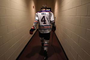 Taylor Hall, on his way to making his triumphant return to the Edmonton Oiler lineup