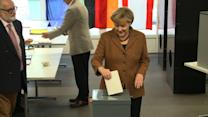 Merkel wins in Germany, 'grand coalition' likely
