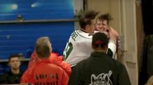 Players brawl off-ice, near locker rooms in AHL game (Video)