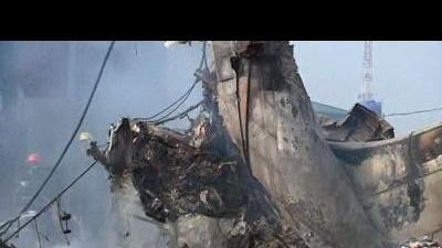 Lagos rescuers dig through plane crash