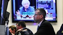 Dow hits fresh record as DuPont jumps; Fed minutes ahead