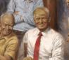 El cuadro de Trump con Lincoln, Reagan y Nixon que ha estrenado en la Casa Blanca