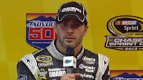 Johnson talks close calls and points battle