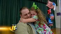 Returning solider surprises daughter