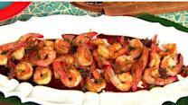 Chef Alex Garcia's rum glazed shrimp on THE Dish