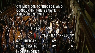 House Votes Overwhelmingly for Budget Peace