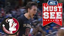 Florida State's Boris Bojanovsky Beats Maryland With Last-Second Dunk In ACC Tournament   ACC Must See Moment
