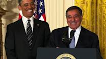 "Panetta returns to walnut farm - ""a different set of nuts,"" he jokes"