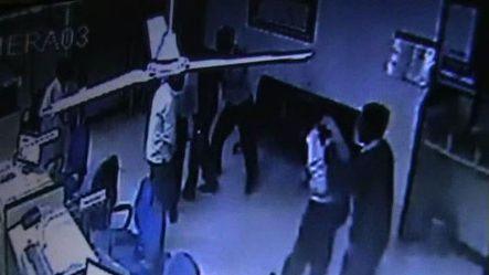 CCTV footage of bank robbery in Greater Noida