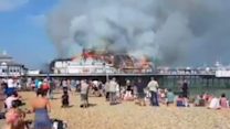 Eastbourne's Historic Pier Goes Up in Flames