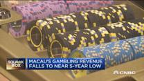 Macau on losing streak as revenues near 5-year low