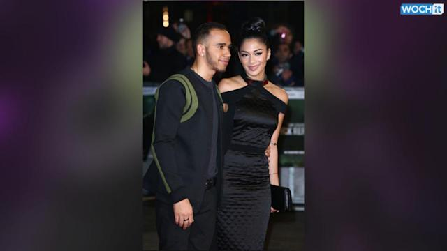 Nicole Scherzinger Cheers On Lewis Hamilton In Bahrain
